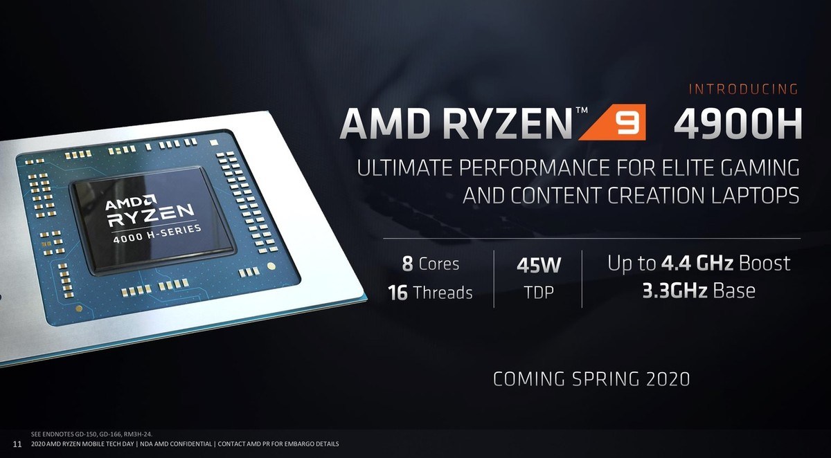 AMD adds new laptop processors to its Ryzen 4000 7nm series