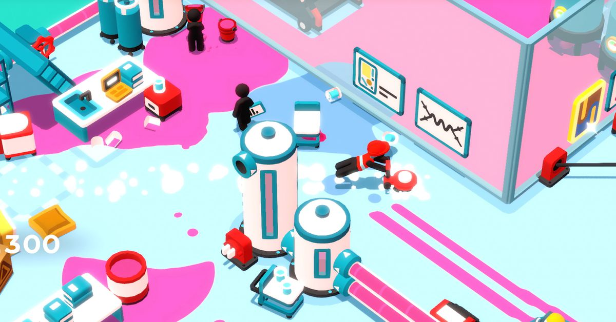 Goob Job! (Switch) impressions: Physics-based chaos in the office