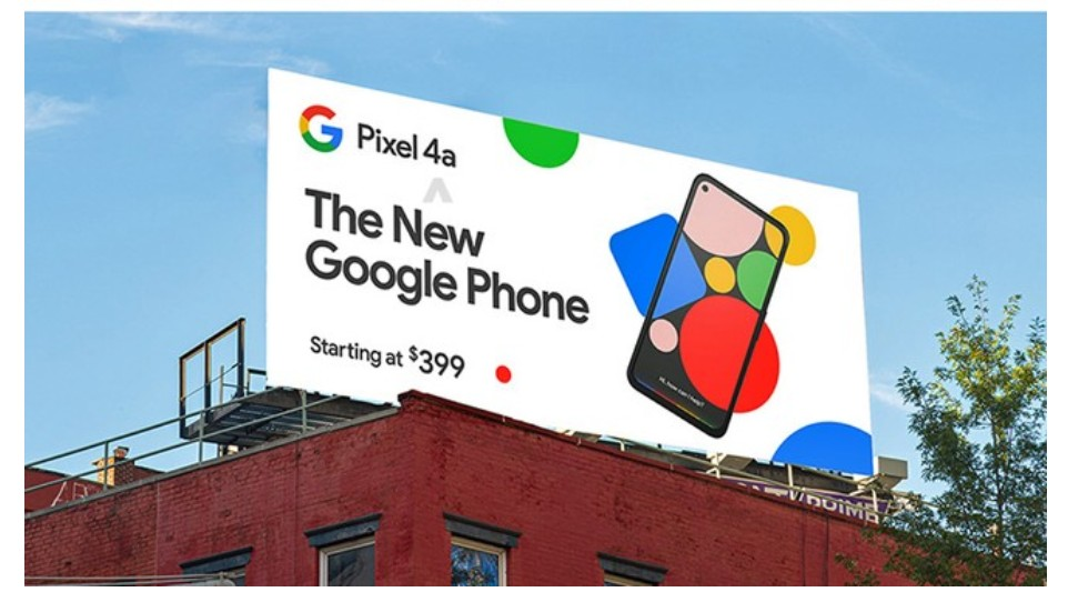 Google Pixel 4a advertisement board reveals price and design