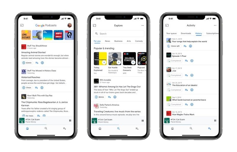 Google Podcasts now available for iOS with a new design