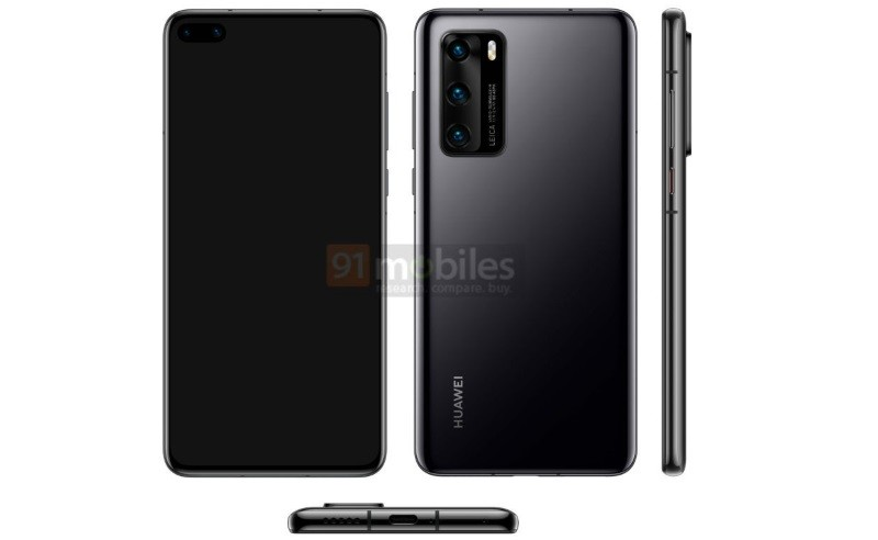 Huawei P40 to have quad-curved display, 52MP triple cameras | UPDx4: color variants