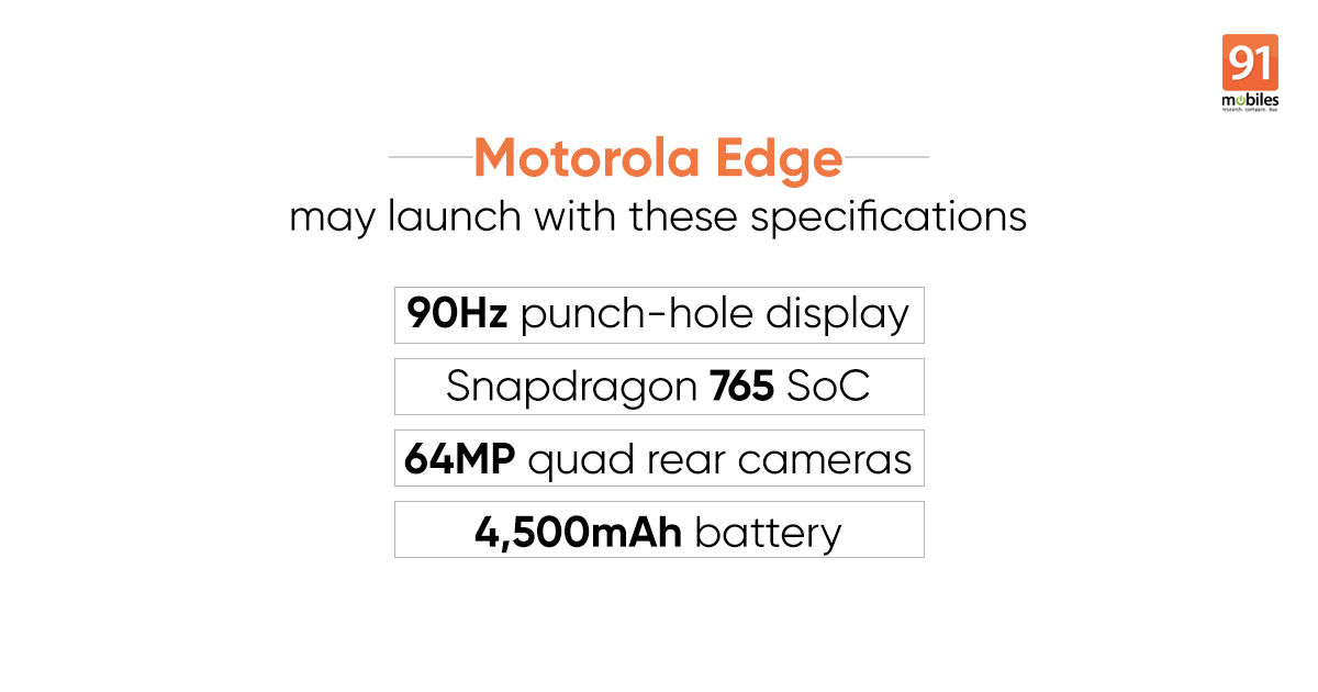 Motorola Edge live images and specifications revealed ahead of launch