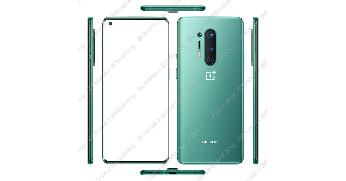 OnePlus 8 Pro full specifications and render leaked, 120Hz display, wireless charging tipped