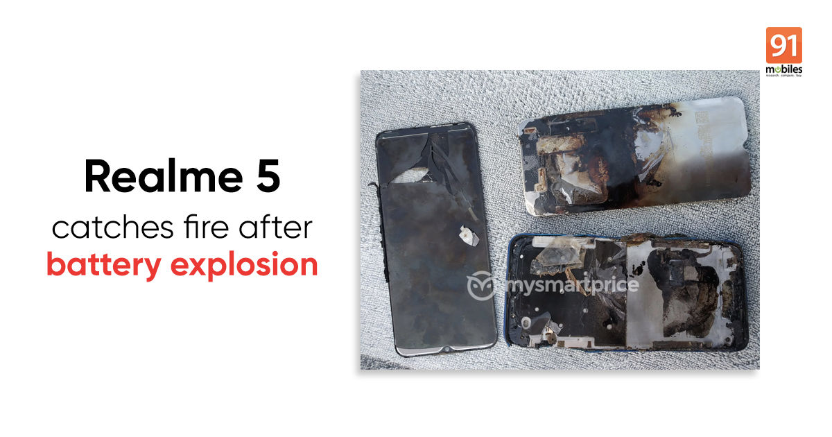 Realme 5 battery explodes, user escapes with minor injuries