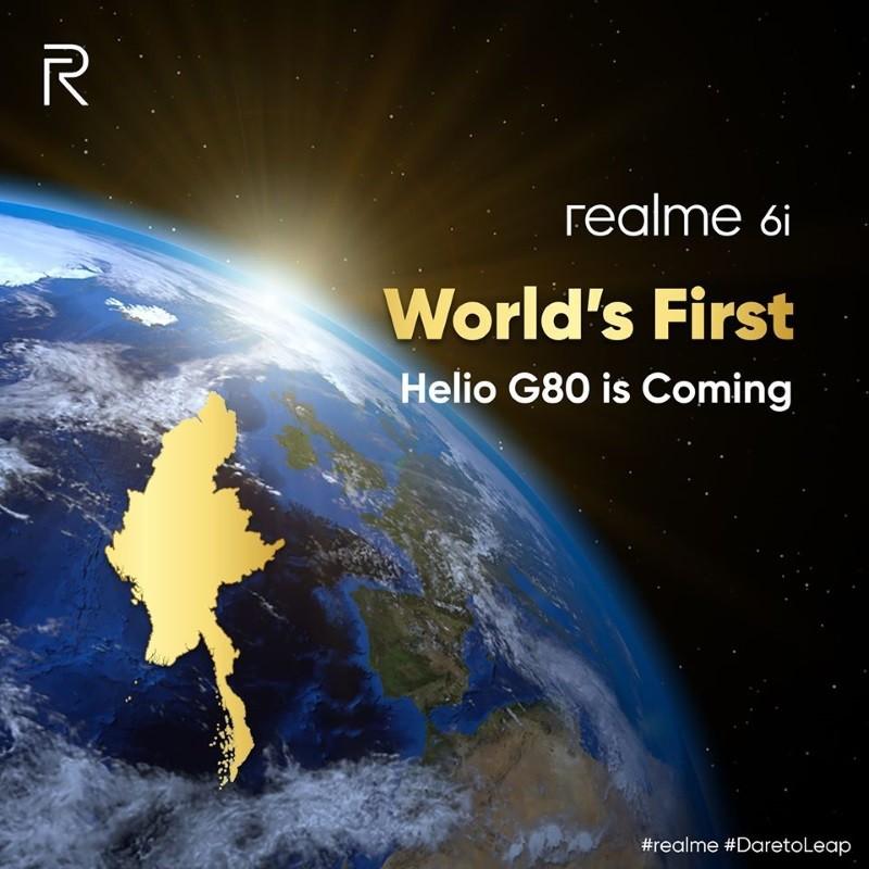 Realme 6i with Helio G60, 48MP quad cameras coming March 17