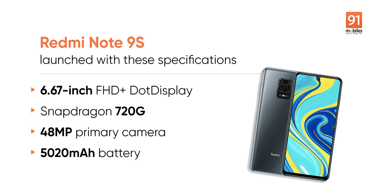 Redmi Note 9S launched with punch-hole display and quad-rear cameras: price, specifications