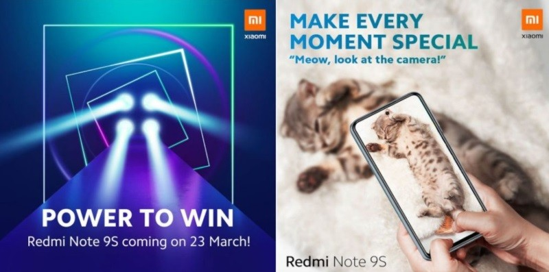 Redmi Note 9S with quad cameras, punch-hole display coming March 23