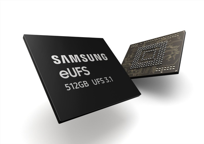 Samsung starts mass producing 512GB eUFS 3.1 storage for smartphones
