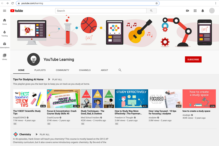 YouTube Launches 'Learn@Home' Educational Hub For Kids