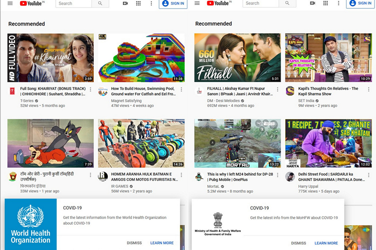 YouTube Now Has a Dedicated Coronavirus Hub With Info From WHO and More