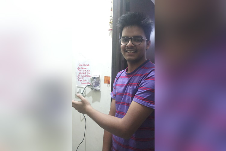 16 Year Old Delhi Boy Built a Touch-free Doorbell