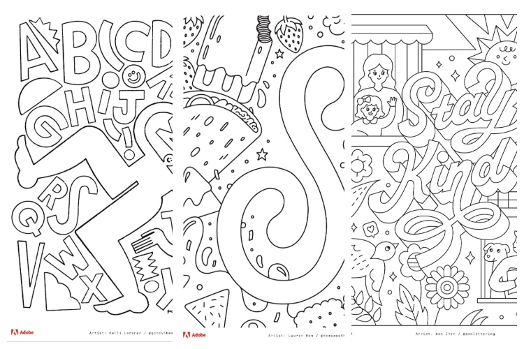 Adobe Releases Free Colouring Book to Help You Deal with Stress During Lockdown