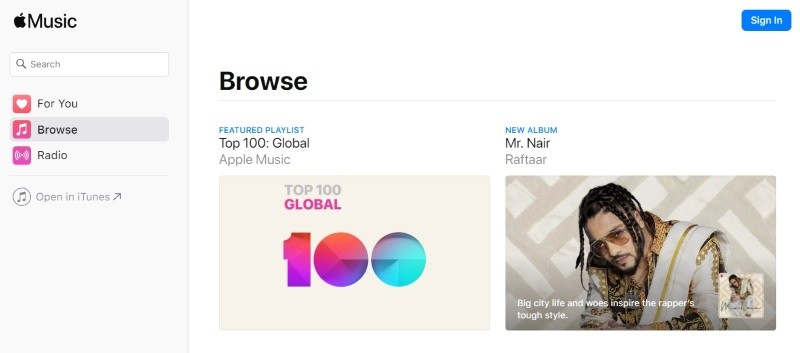Apple Music web player is now out of beta testing