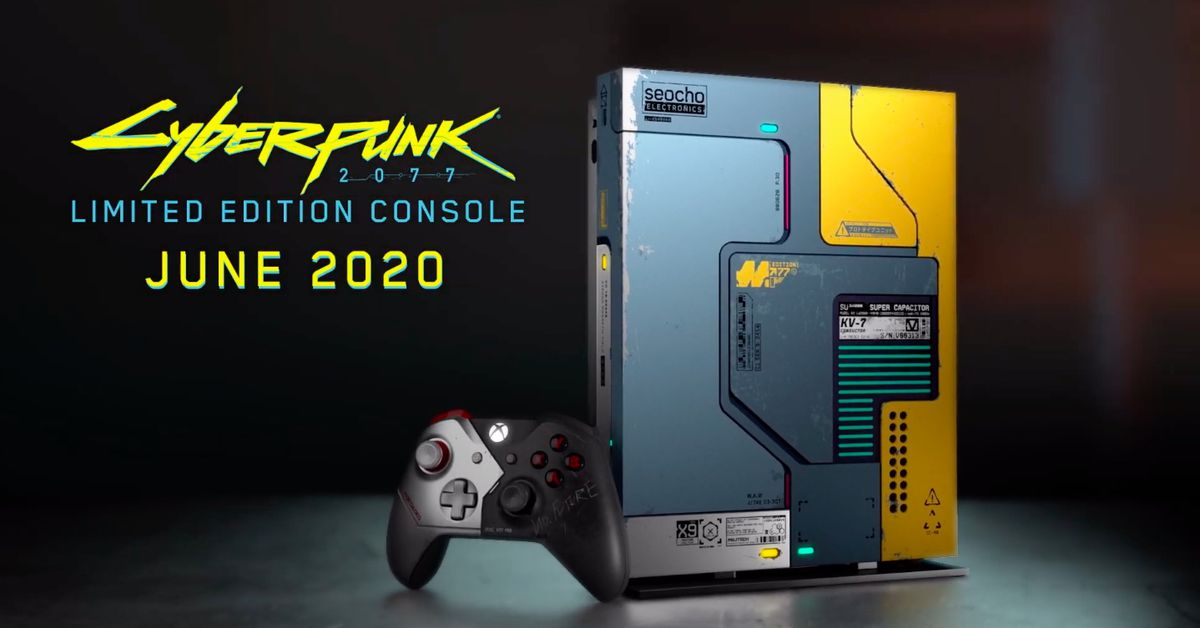 Cyberpunk 2077-themed Xbox One X hardware announced