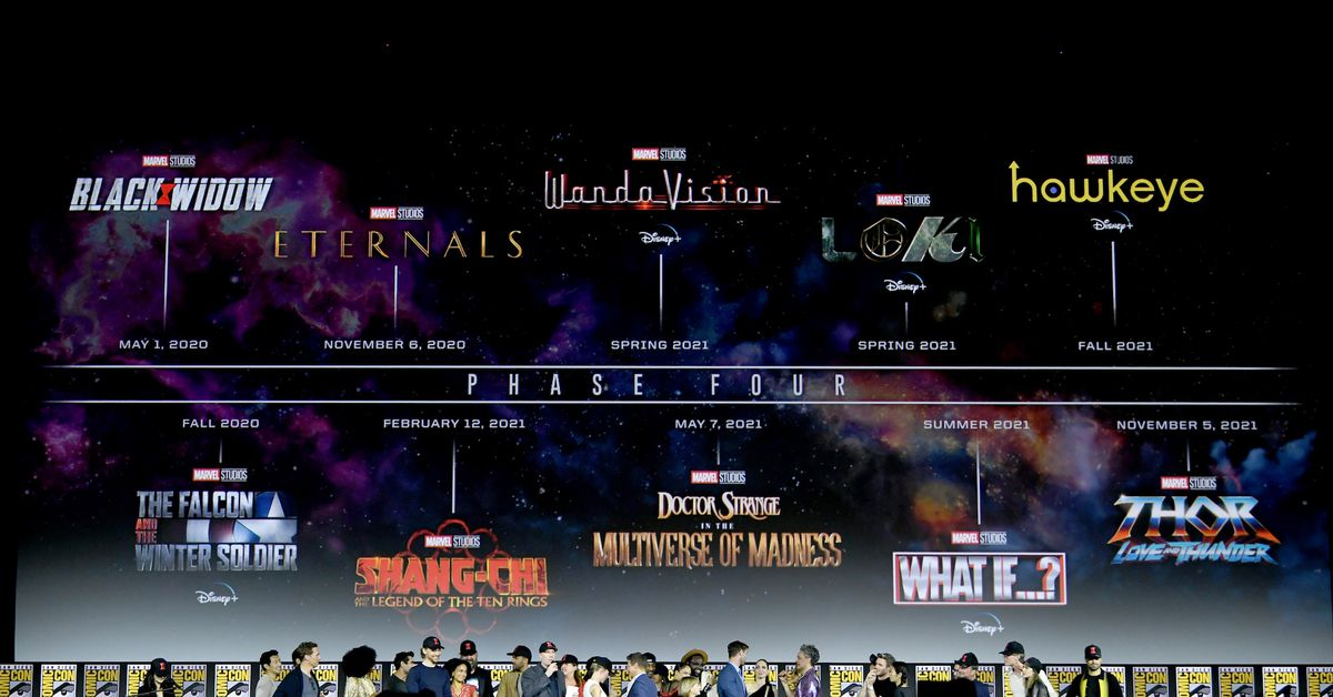 Eternals, Thor 4, Captain Marvel 2, & Phase 4 release dates all shift
