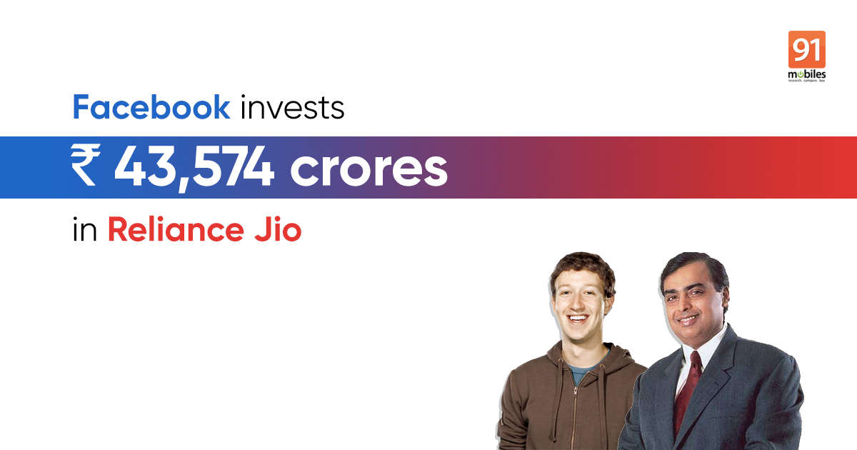 Facebook picks up 9.99 percent stake in Reliance Jio in Rs 43,574 crores deal