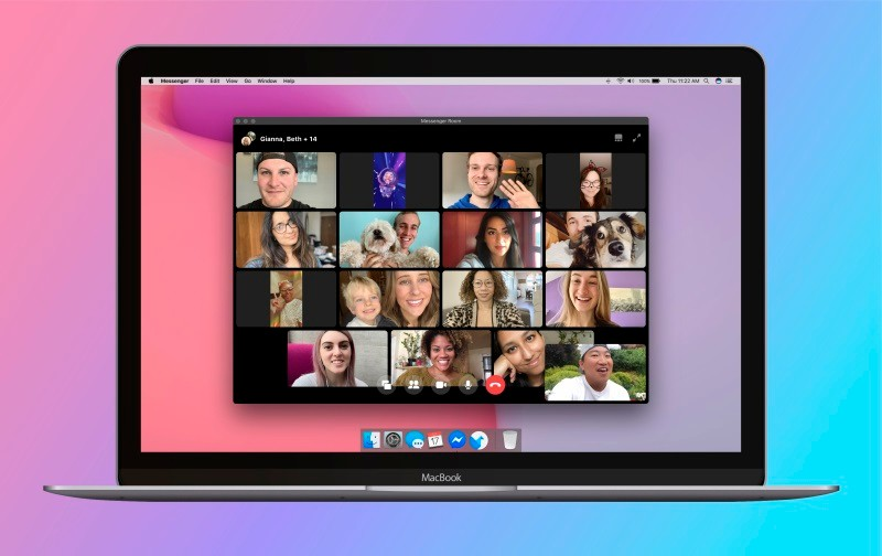 Facebook's Messenger Rooms video chat supports up to 50 people at once
