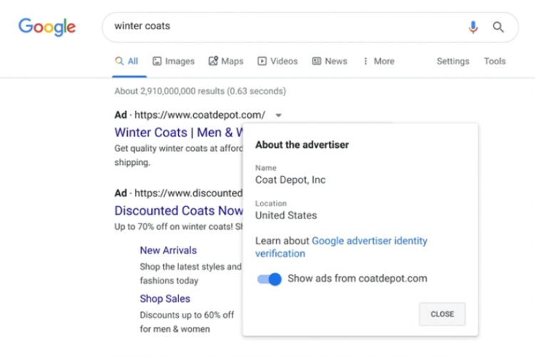 Google Ads Will Soon Display The Advertiser's Name & Location