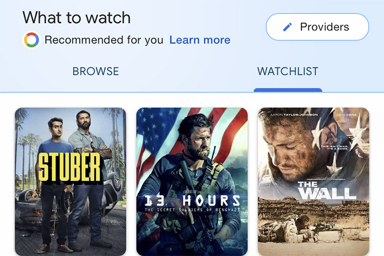 Google Now Lets You Create a Movie Watchlist in Search