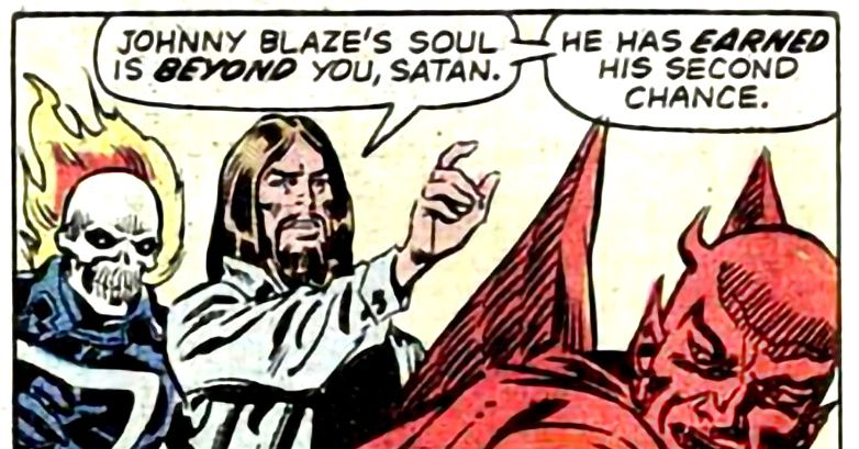 Hell, Heaven, and Jesus exist in DC and Marvel comics in a strange way