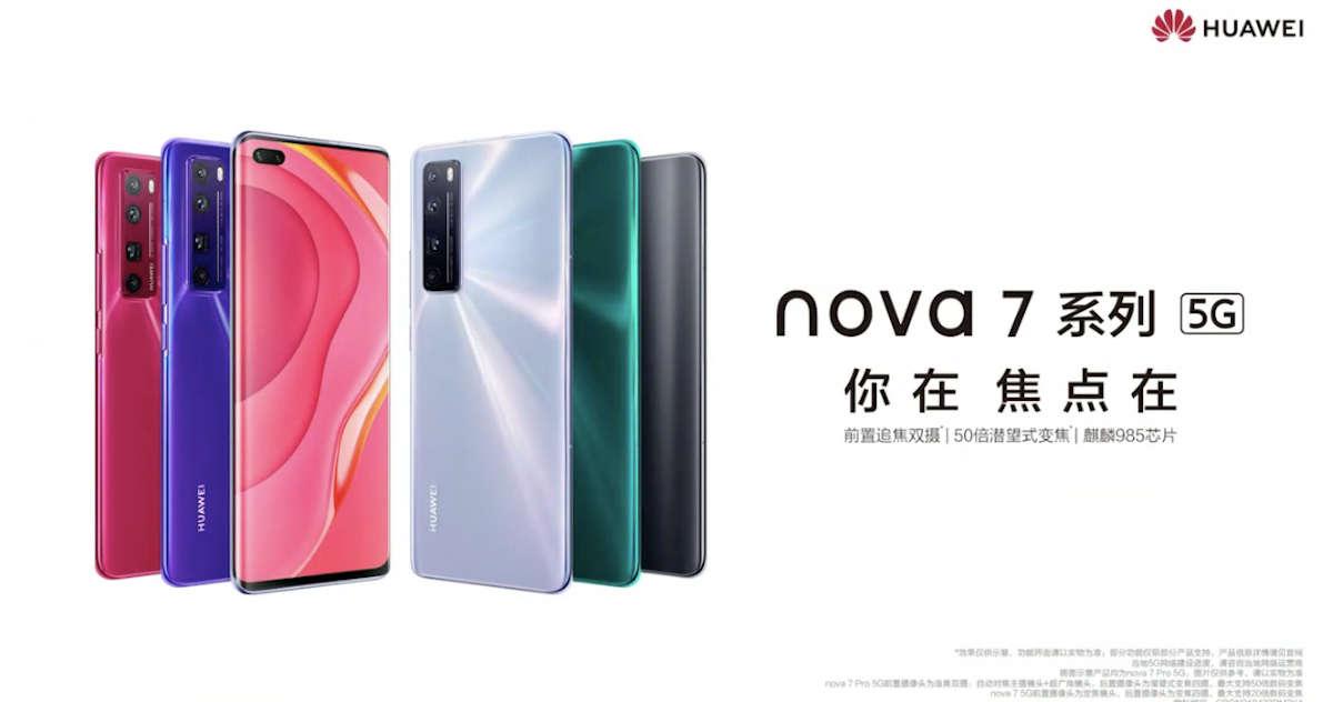 Huawei Nova 7, Nova 7 Pro and Nova 7 SE launched with 5G SoCs, 64MP cameras: price, specifications