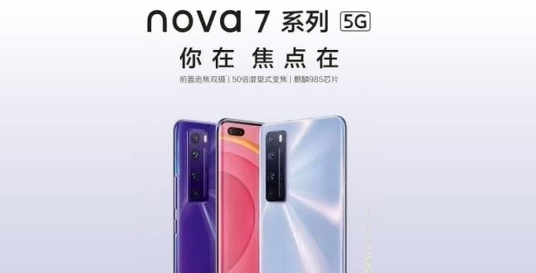 Huawei Nova 7 teaser shows Kirin 985 SoC and 50x digital zoom