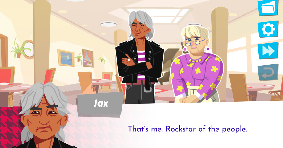 Later Daters is a dating sim full of sexy seniors