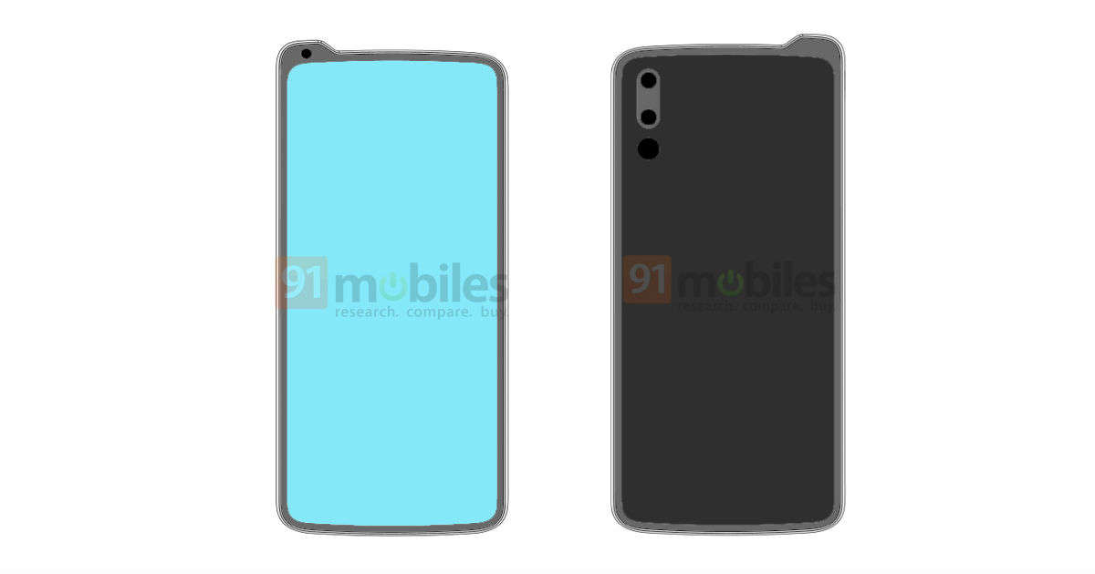 Lenovo phone with reverse notch design appears in new patent images