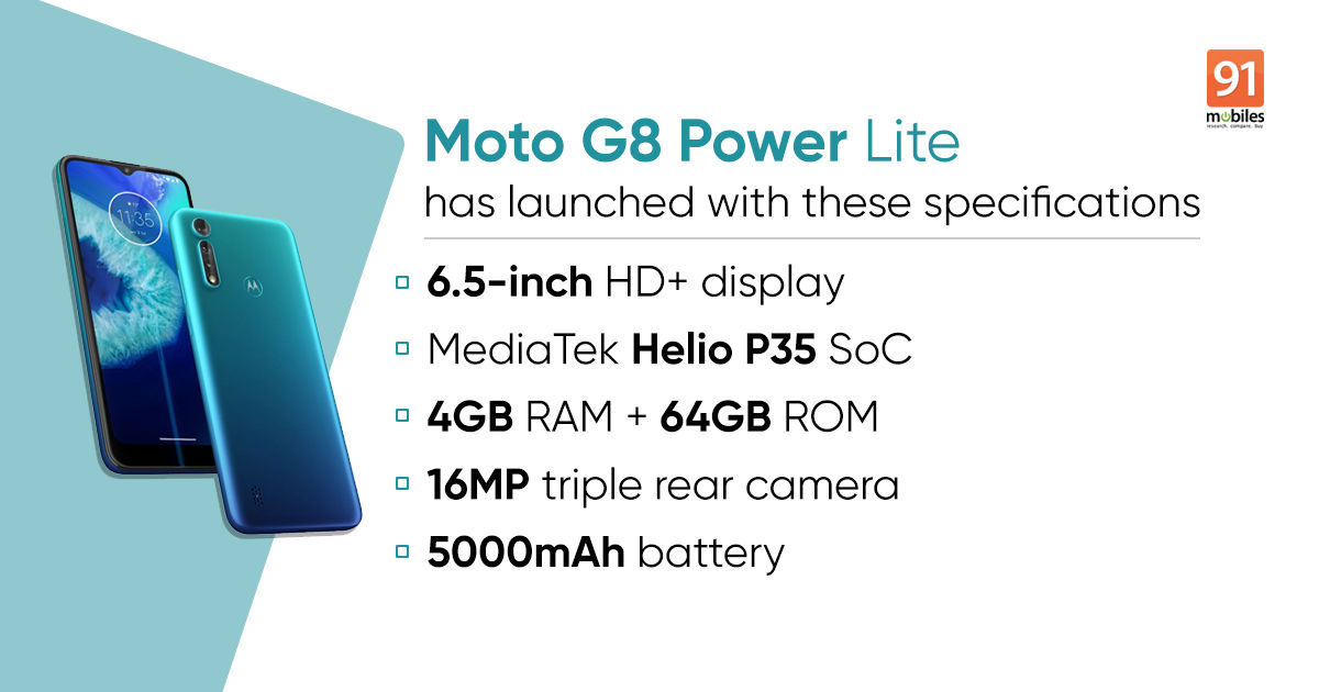 Moto G8 Power Lite launched with triple cameras, 5,000mAh battery: price, specifications and availability