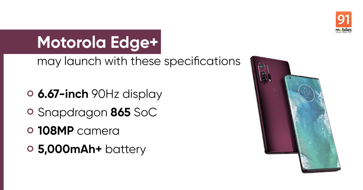 Motorola Edge+ launch set for April 22nd; expected to feature 108MP camera