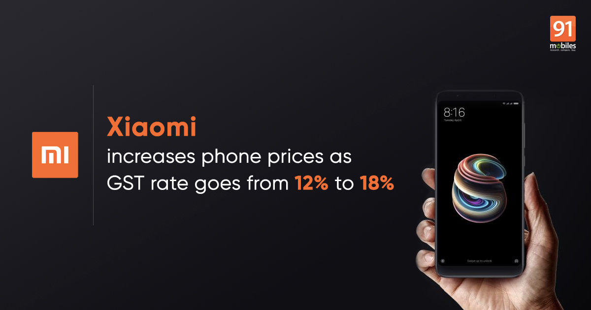 No April Fools' joke: Xiaomi increases phone prices due to GST rate hike