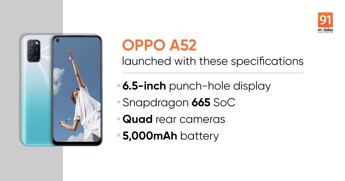 OPPO A52 price specifications launch