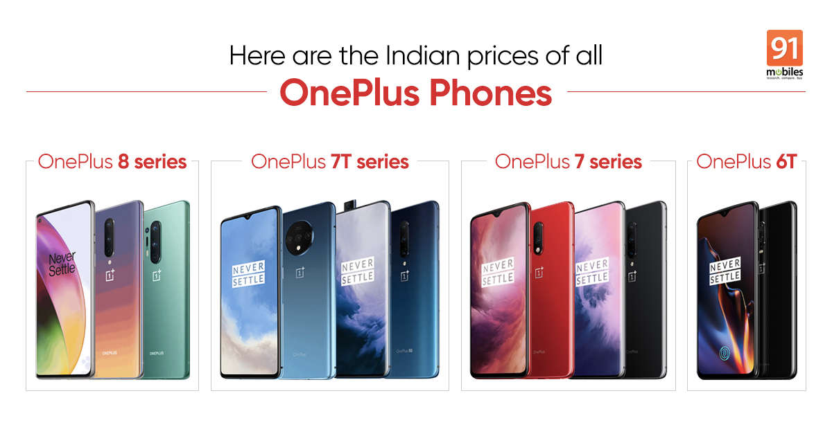 OnePlus 8 Pro to OnePlus 6T: here are the India prices for all OnePlus phones