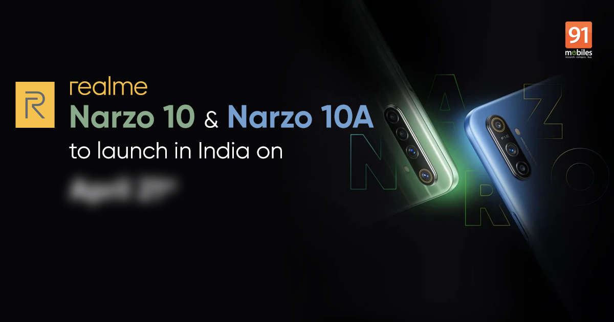 Realme Narzo 10 and Narzo 10A India launch date announced