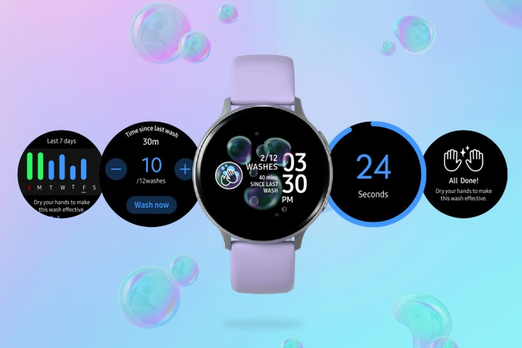 Samsung's New App for Galaxy Watches is Dedicated to Hand Washing