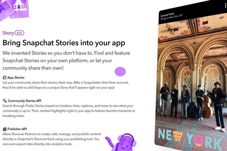 Snapchat Will Let Users Share Snap Stories to Third-Party Apps