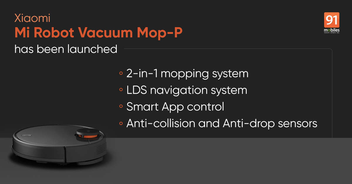 mi robot mop p launch