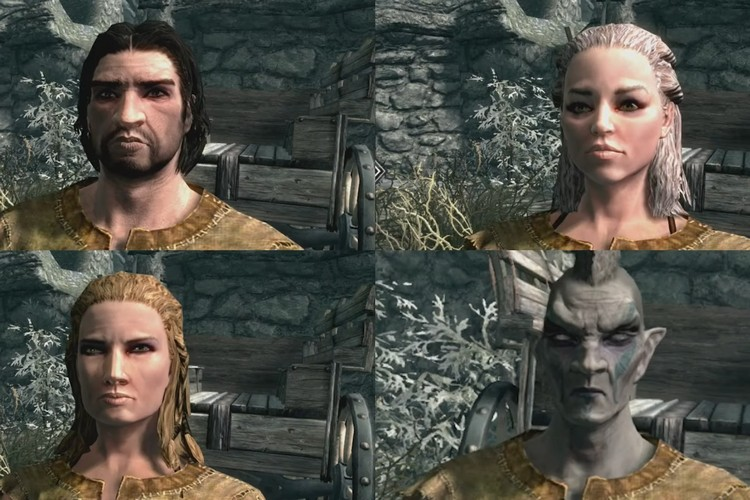 A Professional Illustrator Created 4 GOT Characters in Skyrim