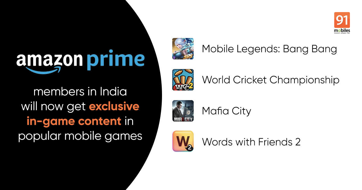 Amazon India launches Prime Gaming to offer exclusive in-game currency, skins, and more to mobile gamers
