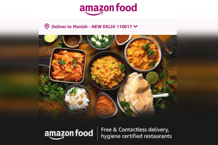 Amazon Starts Food Delivery Service in India to Rival Growing Presence of Zomato, Swiggy