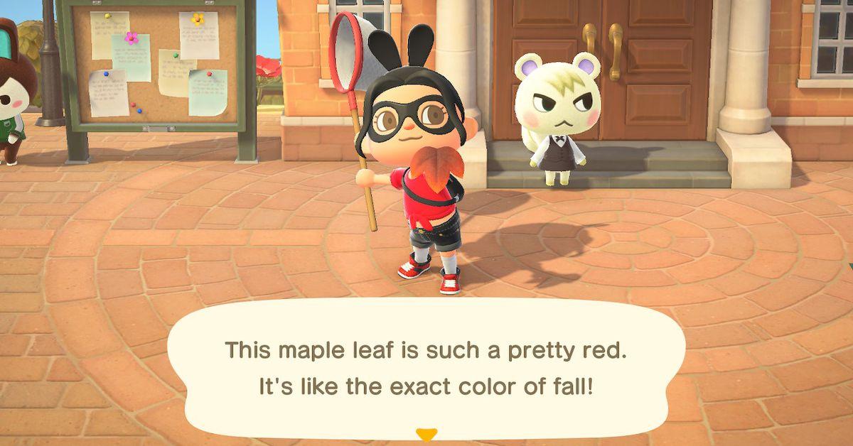 Animal Crossing: New Horizons fall Maple Leaf DIY recipe list
