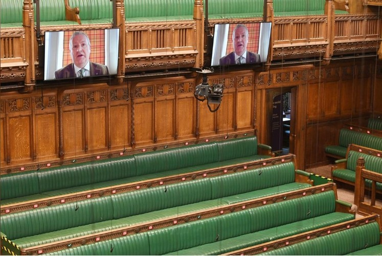 Brits Converted Their Parliament into a Modern Video-Conferencing Center