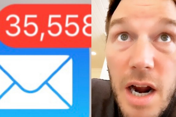Chris Pratt Reaction to Accidentally Deleting 51,000 Emails is Hilarious