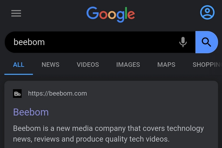 Chrome Tests Dark Theme for Google Search Results on Android