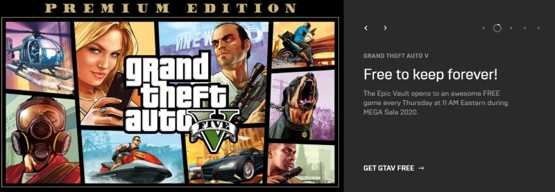 Download GTA V for PC free via Epic Games Store [limited-time]