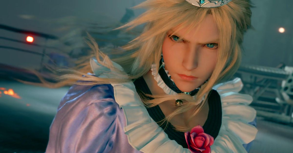 Final Fantasy 7 Remake mod puts Cloud in a dress for the whole game