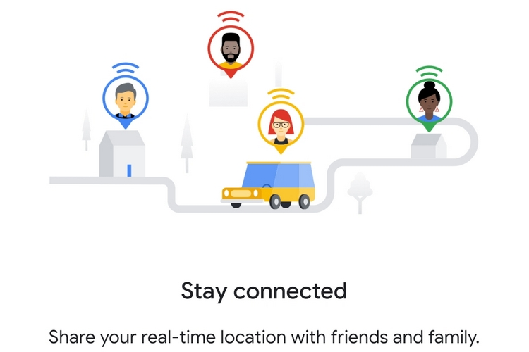 Google Maps Updates Interface of Location Sharing