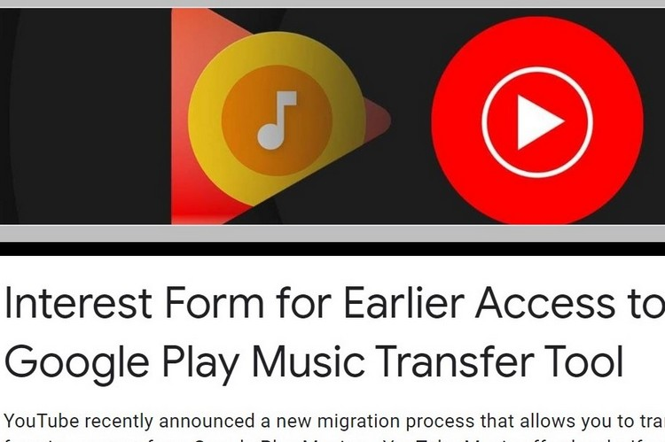 Google's Transfer Tool for Play Music and YT Music is in Early Access