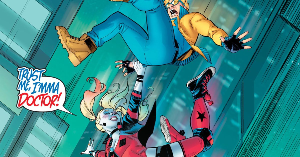Harley Quinn is now crushing on DC Comics' biggest loser: Booster Gold