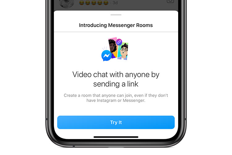 Instagram Is Now Getting Messenger Rooms Integration
